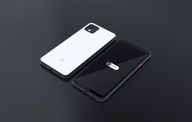 Google Pixel 4 XL Photoshop Mockup - 4K